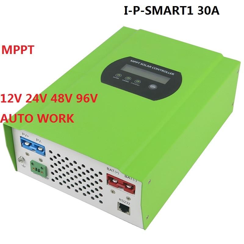 12V 24V 48V 96V Auto recognition 30A MPPT Solar Charge Controller Solar Tracker for home engergy system auto battery charge controller regulators for 12v 24v 48v 96v system mppt controller