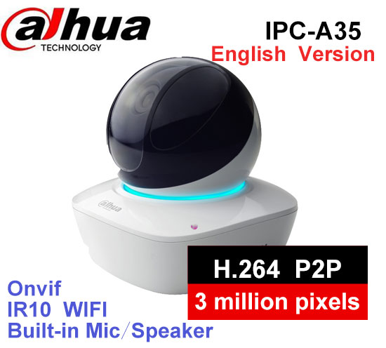 In Stock IP Camera Indoor DaHua WiFi Camera IPC-A35 OEM 3MP Wireless IP Camera 16x Wi-Fi Network PT Camera Built-in Speaker & SD цены онлайн