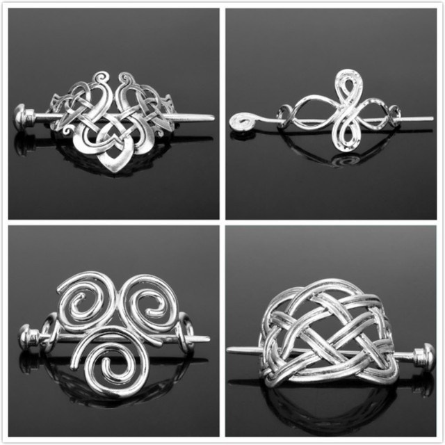 dongsheng Fashion Celtics Knots Viking Runes Crown Hairpins Hair Clips Stick Slide Accessories for  Women Cetilcs Hair Jewelry-1
