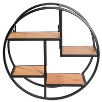 Wall Mounted Iron Shelf Round Rack Wall Storage Holder For Pantry Living Room Bedroom Kitchen
