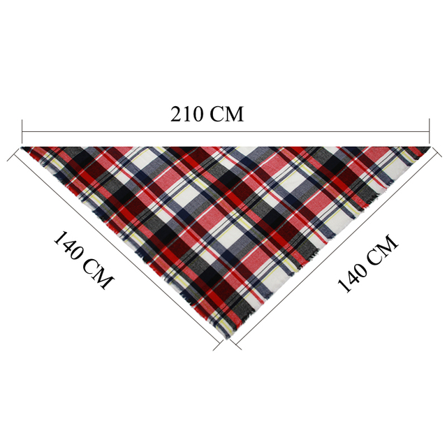 2018 Winter Scarf Women Cashmere Plaid Pashmina Scarf Luxury Brand Blanket Wraps Female Scarves and Shawls 140*140*210cm 5