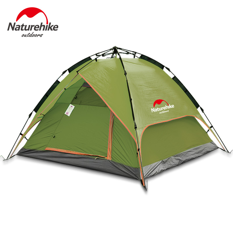NH high quality new style 3-4 person quick automatic opening rainproof camping tent with mat книги эксмо обретение любви