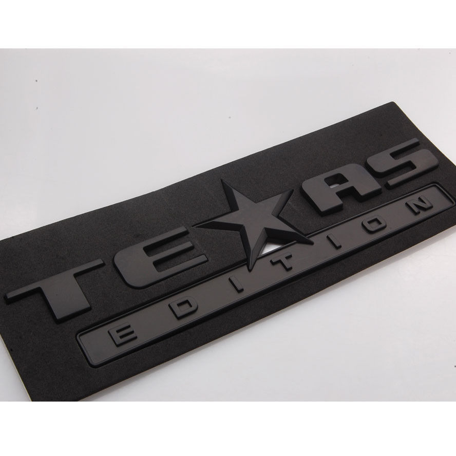 Auto car black texas edition emblem badge decal sticker abs fit for chevrolet sierra silverado tahoe suburban accessories