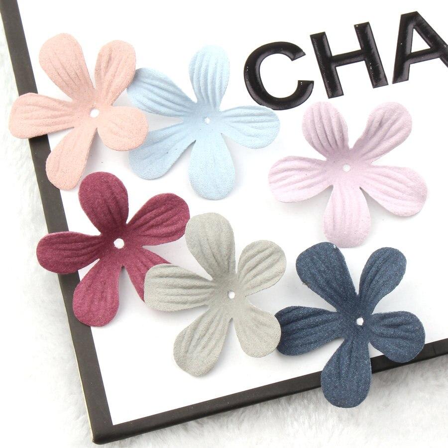 סיטונאי 100 יח'\חבילה בד חומר תכשיטי DIY אביזרי כושר מלאכת פרח כותרת תיקון מדבקת סרט קליפים בנות שיער