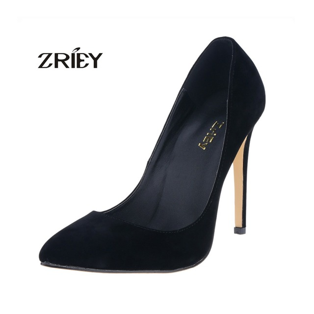 23c1b880aa5a3 US $28.68 |Womens Sexy Pointed Toe High Heels Stiletto Work Pumps Faux  Suede Shoes US Size 4 5 6 7 8 9 10 11-in Women's Pumps from Shoes on ...