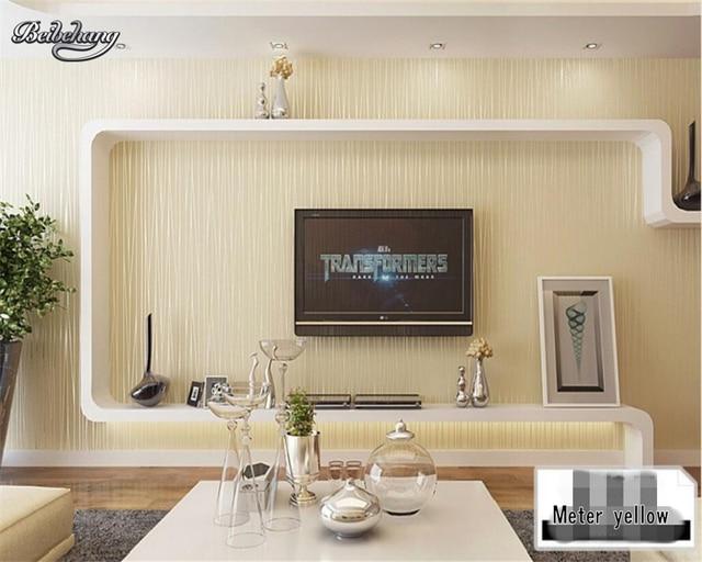 Slaapkamer Muur Kleur : Beibehang d behang effen kleur moderne zilveren gauge geel