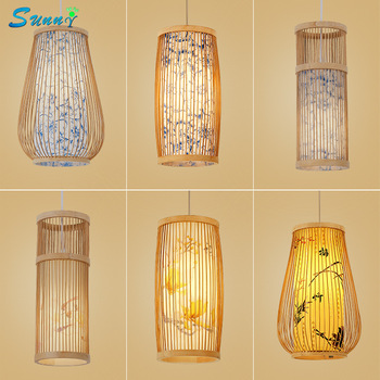 Chinese Bamboo Knitting Pendant Lights Creative Home Decoration Dinning Room Kitchen Lights Hanging Restaurant Bedroom Hanglamp