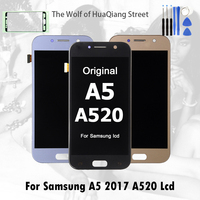 Best ORIGINAL AMOLED Display LCD for SAMSUNG Galaxy A5 2017 LCD A520 A520F SM A520F LCD Touch screen Digitizer Assembly Replacem