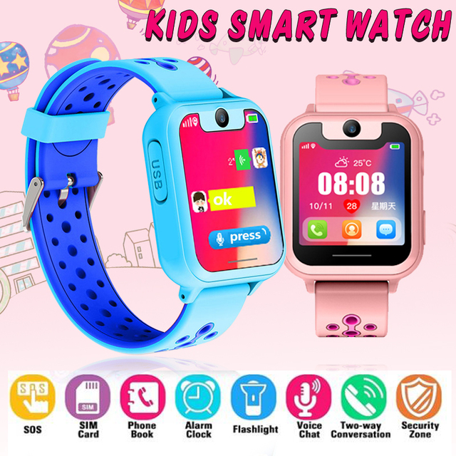 S6 Smart Baby Watch LBS Tracker Camera SOS Call back SIM Position Location Children kids Smart Watch baby for IOS & Android