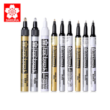 Marker-Paint White SAKURA Highlight Art-Supplies Writing-Marks Gold Silver for DIY Picture