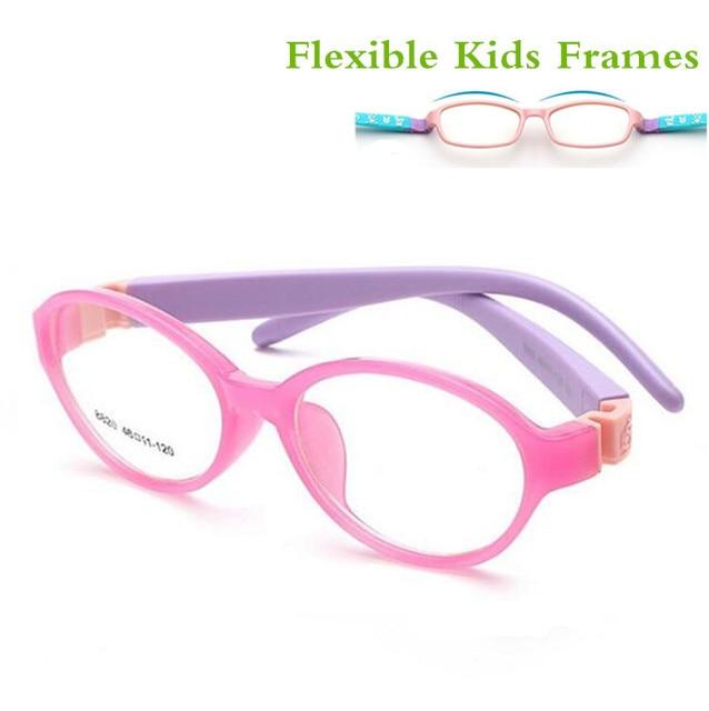 016a86083dca3 Perna de Borracha removível Kid Óculos Óculos Crianças Armações de Óculos  Óptica para As Crianças Sem