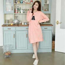 Super Casual Girls Sleepskirt Night Dress Cotton Nightgown Sleeping Dresses Robe Pijama Cotton Nightwear Nightgown Plus Size