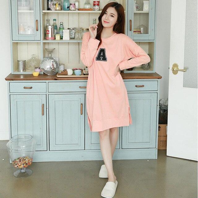 Super Casual Girls Sleepskirt Night Dress Cotton Nightgown Sleeping Dresses Robe Pijama Cotton Nightwear Nightgown Plus Size