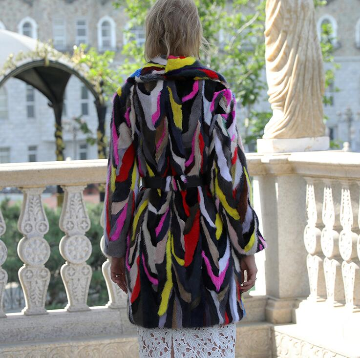 Véritable Naturel Yinfei Veste Multi Femme Manteau Fourrure Taille Femmes Grande Vison De 6xl Pour Les qpgZYp4Bxw
