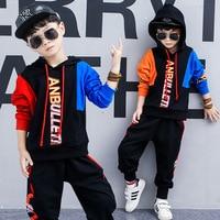 Весенний костюм для мальчиков, новинка 2019 года, Корейская версия детской одежды, модный спортивный костюм с длинными рукавами для мальчиков