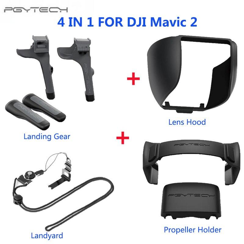 PGYTECH для DJI Mavic 2 Pro Zoom посадочный механизм стояк держатель пропеллера пульт дистанционного управления палка для большого пальца Защитная крышка аксессуары для дрона