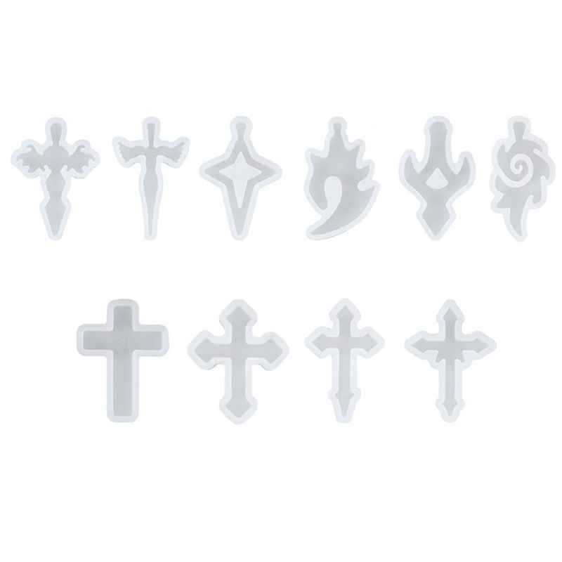 Cross Pendant Silicone Resin Mold Jewelry Making Casting Mould Craft DIY Tools