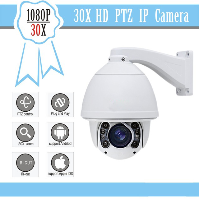 12digital zoom Security cctv ip camera system FULL HD 1080P Camera 30x PTZ camera optical zoom