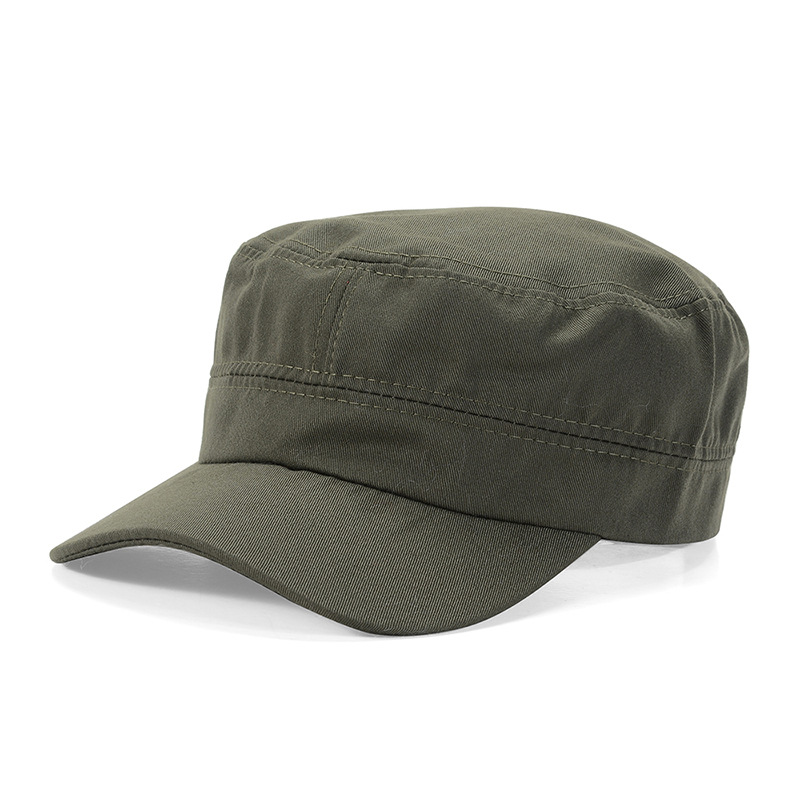 HTB1TzPwK3DqK1RjSZSyq6yxEVXa2 - Adjustable Classic Plain Cap Vintage Army Military Cadet Style Cotton Hat