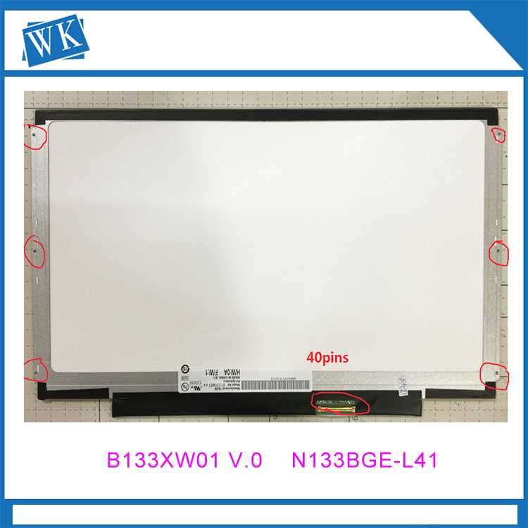 13.3 led screen B133XW03 V.1 LTN133AT16 B133XW01 V.0 CLAA133WA01A N133BGE-L31 LN133AT28 B133XW03 V.4 free shipping n133bge l41 n133bge l31 b133xw01 v 0 lp133wh2 tle1 for lenovo u310 u350 v360 v370g z370 z380 lcd screen lvds 40pin