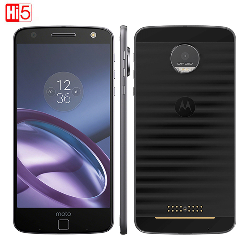 Unlocked Motorola MOTO Z XT1650 Quad Core Mobile Phone Android 4GB RAM 32GB ROM 5.5'' 13.0MP NFC 2560*1440 4G LTE Moto 2600mAh