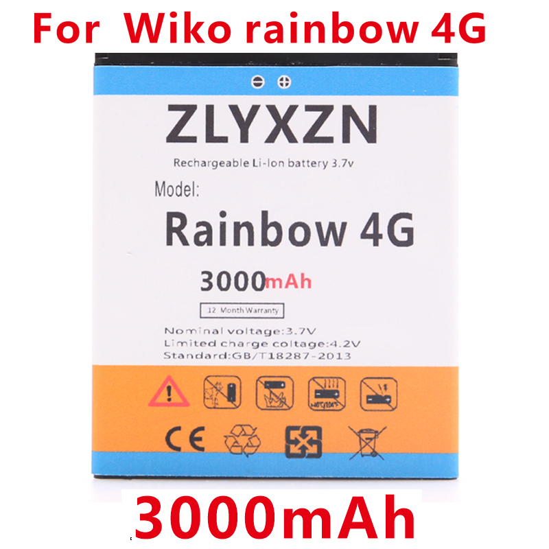 4G Battery Wiko Mobile-Phone-Replacement 3000mah For Rainbow High-Quality