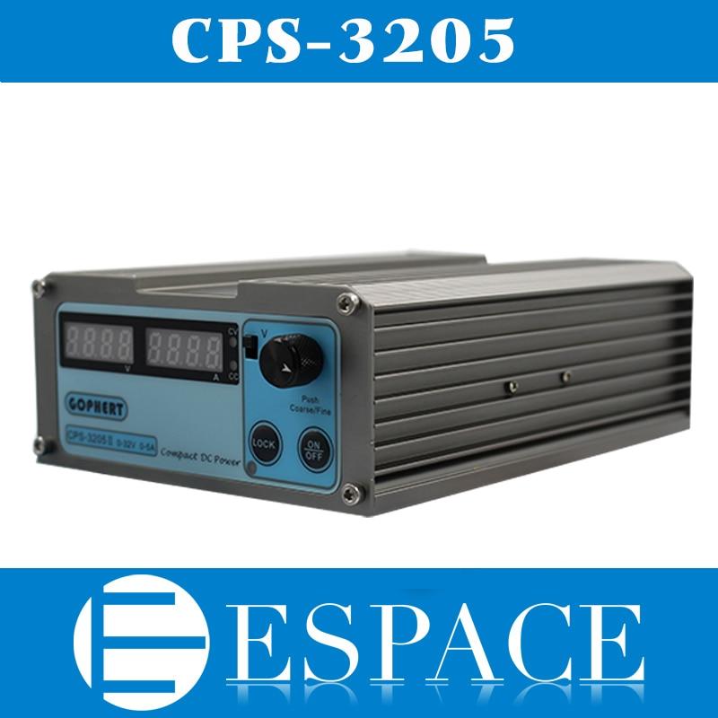 Nuovo CPS-3205 160 W (110Vac/220Vac) 0-32 V/0-5A, Digitale Compatta Regolabile DC Alimentazione CPS3205 spedizione gratuita