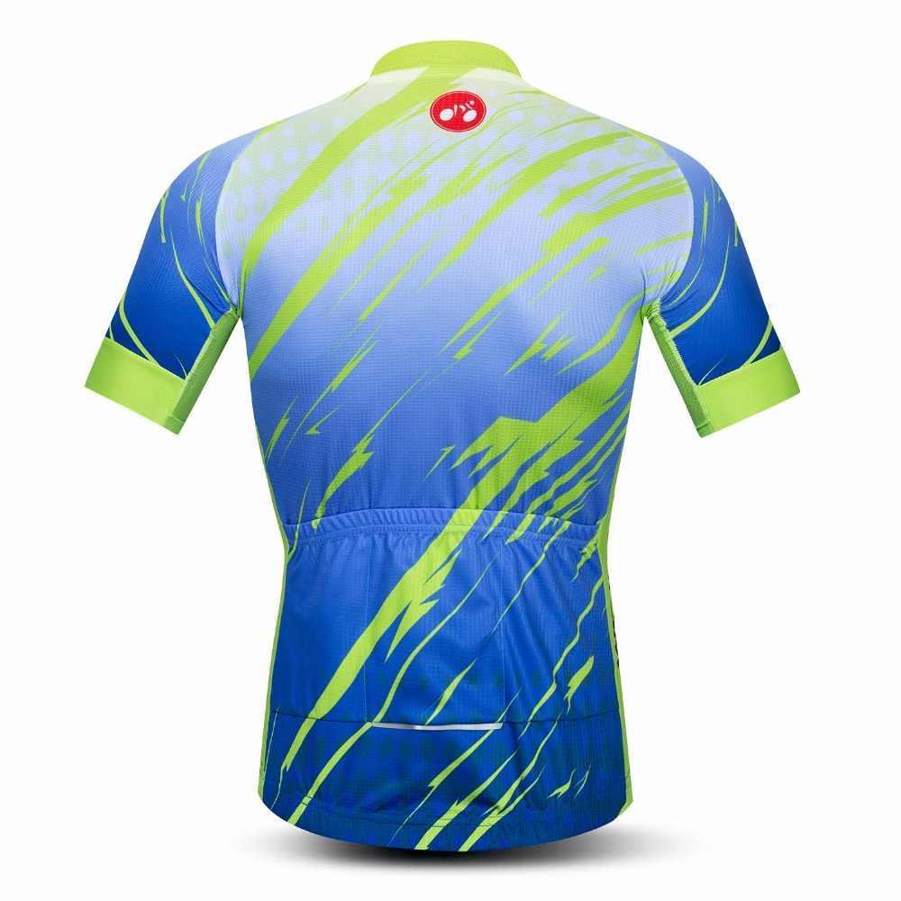 2019 Camisas Dos Homens camisa de ciclismo Bicicleta jersey MTB Pro Equipe Maillot ciclismo Top Corrida de Bicicleta jersey Verão jerseys estrada azul
