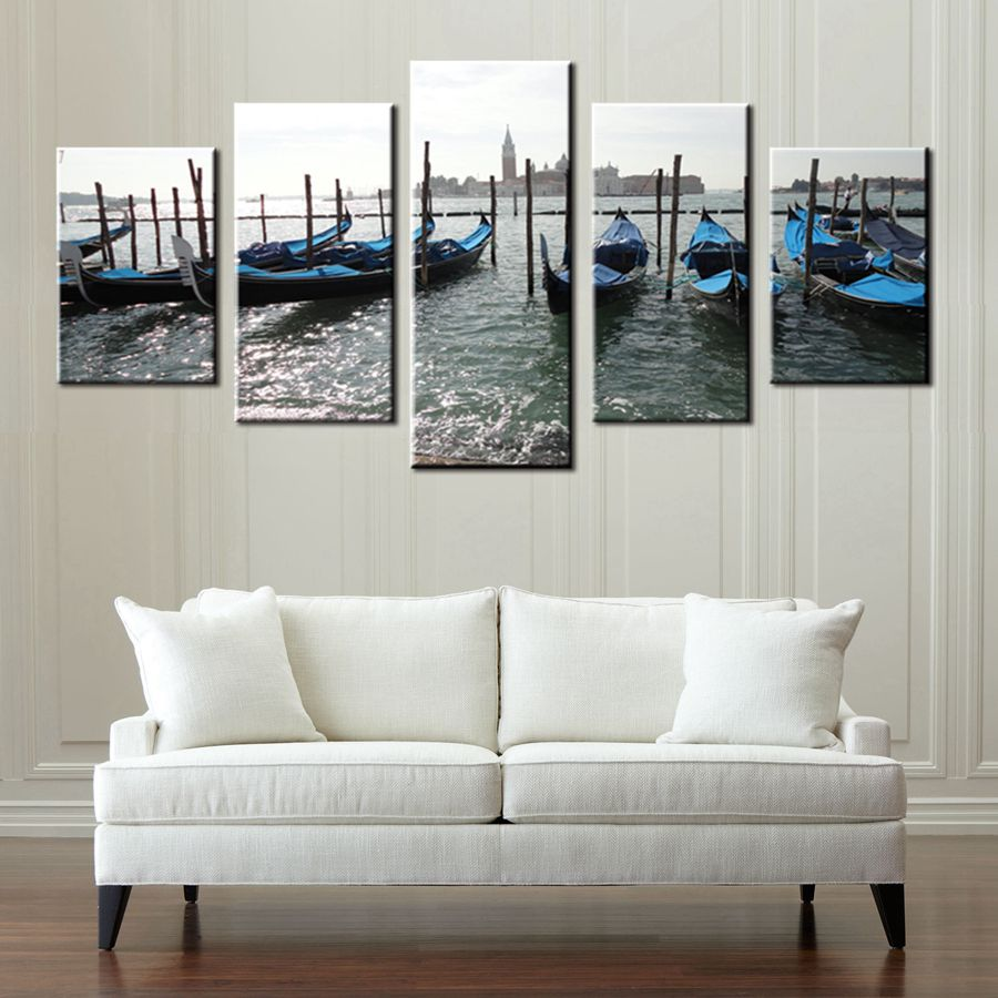 Venice Seascape Color Boats Artwork Fashion Housewarming Gift ...