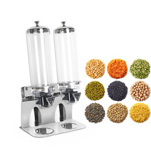 ITOP Dry Food Dispenser Stainless Steel Base Cereal Bean Dispenser Food Storage Container Household Kitchen Accessories