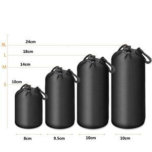 Водонепроницаемая сумка для объектива камеры, сумка на шнурке для DSLR камеры с размером S, M, L, XL для Canon, Sony, DSLR, корпус для объектива камеры с кр...