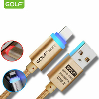 GOLF Auto Power Off Charging Cable For IPhone 5 5s 6 Plus IPad IOS8 9 Android