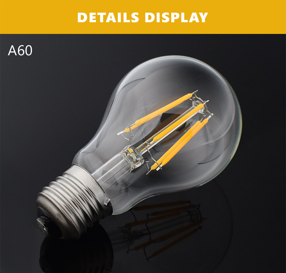 Wholesale 12PCS Dimmer LED Bulb E27 Filament Light Glass Bulb A60 220V 240V 16w Lamp Antique Retro Vintage Led Edison Lamp 5pcs e27 led bulb 2w 4w 6w vintage cold white warm white edison lamp g45 led filament decorative bulb ac 220v 240v