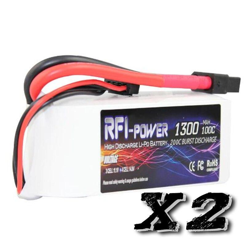 RFI power 1300mAh 14.8V 100C(Max 200C) 4S Lipo Battery Pack for FPV RACING