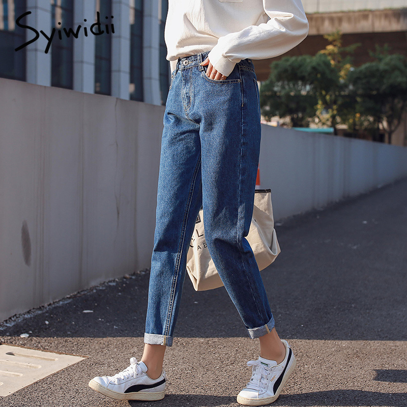 100% cotton white   jeans   woman high waist skinny   jeans   woman plus size mom   jeans   black 2019 spring new beige blue dropshipping