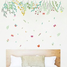 Leaves Flowers Decal Vinyl Wall Stickers PVC Decor Removable DIY Home Art Wallpaper Room House Sticker