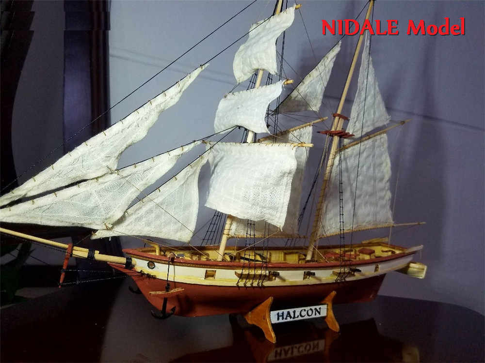 New version Spanish Baltimore Schooner Ship model Kits Halcon Retro cannons luxurious sailboat model Offer English Instruction