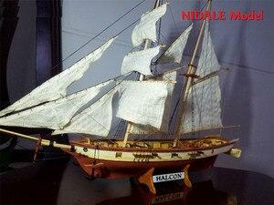 Image 1 - İspanyolca Baltimore Schooner gemi modeli yapı kitleri Halcon Retro topları lüks yelkenli modeli İngilizce talimat