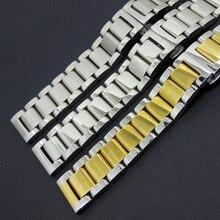 Silber mit gold Edelstahl Metall Armband Armband für L-g G uhr R smartwatch männer MIT Hoher Qualität Neue einsatz 22mm