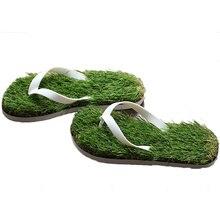 2016 New Men Imitation Grass Flip Flops For Men Summer Beach Flip Flops Flat Shoe Out Sandals Slipper Women Sandalias Mujer TX03