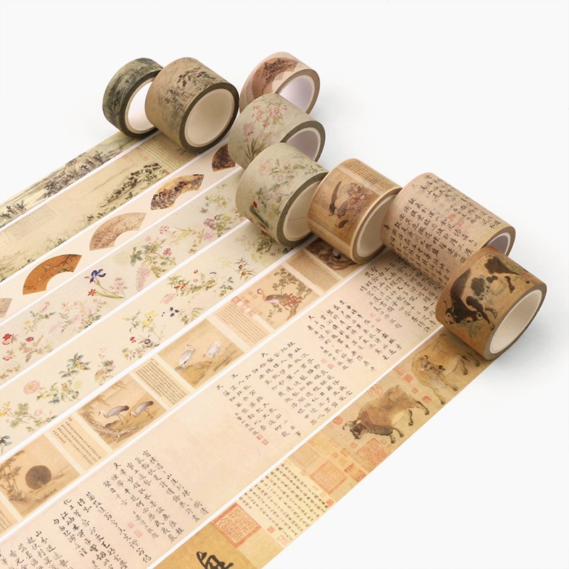 24Design Chinese Traditional Painting/Stamper/Seal Japanese Washi Decorative Adhesive DIY Masking Paper Tape Sticker Label