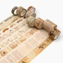 24Design Chinese traditional painting/Stamper/Seal Japanese Washi Decorative Adhesive DIY Masking Paper Tape Sticker Label