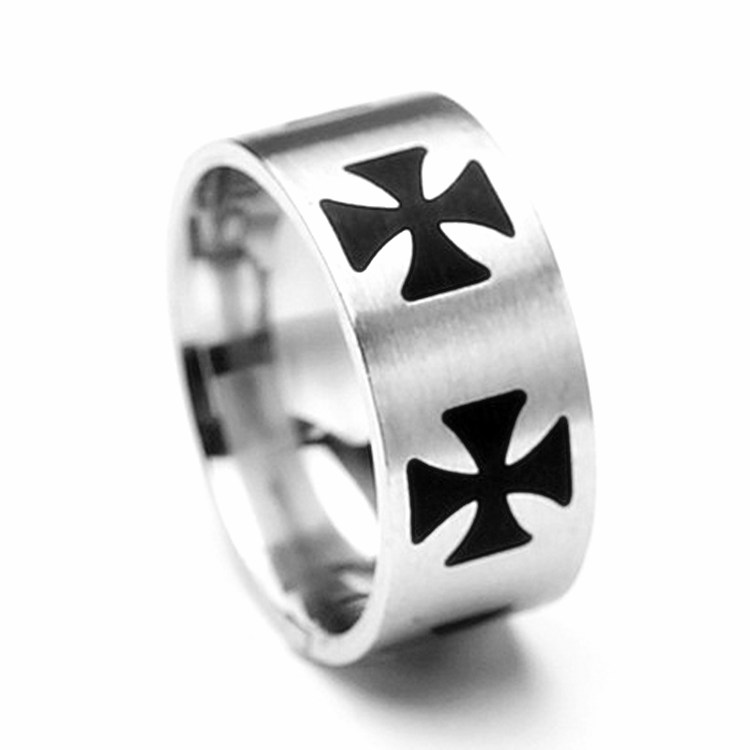 Titanium Cross Ring Cross Charms Titanium Ring Men & Women Jewelry Free Shipping OTR20