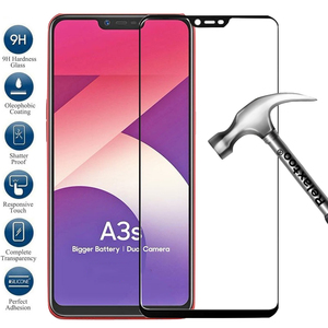 Image 1 - Tempered glass for oppo A3S glass screen protector 9H Full cover protective Films On the for oppo A5 Realme 6 Pro 6i Realmi 6 i6