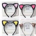 2016 Headwear Bonito Do Coração Do Gato Orelhas Caráter Acessórios faixas de Cabelo Headbands para As Mulheres Do Partido Olá Gatinho Adulto