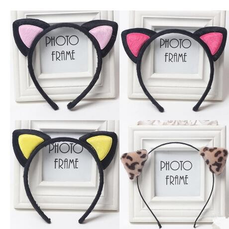 2017 Cute Headwear Heart Cat Ears Character Headbands for Women Party Adult Hello Kitty Hair Accessories