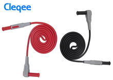 Hot Cleqee P1033 Multimeter Test Cable Injection Molded 4mm Banana Plug Test Line Straight to Curved Test Cable Free shiping стоимость