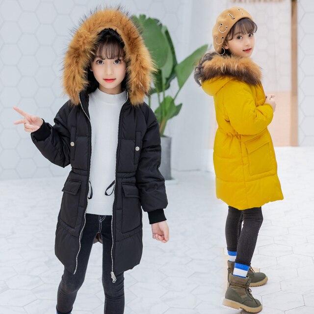 77a12aaf1 2018 New Blue Children Winter Jacket Girl Winter Coat Kids Warm ...