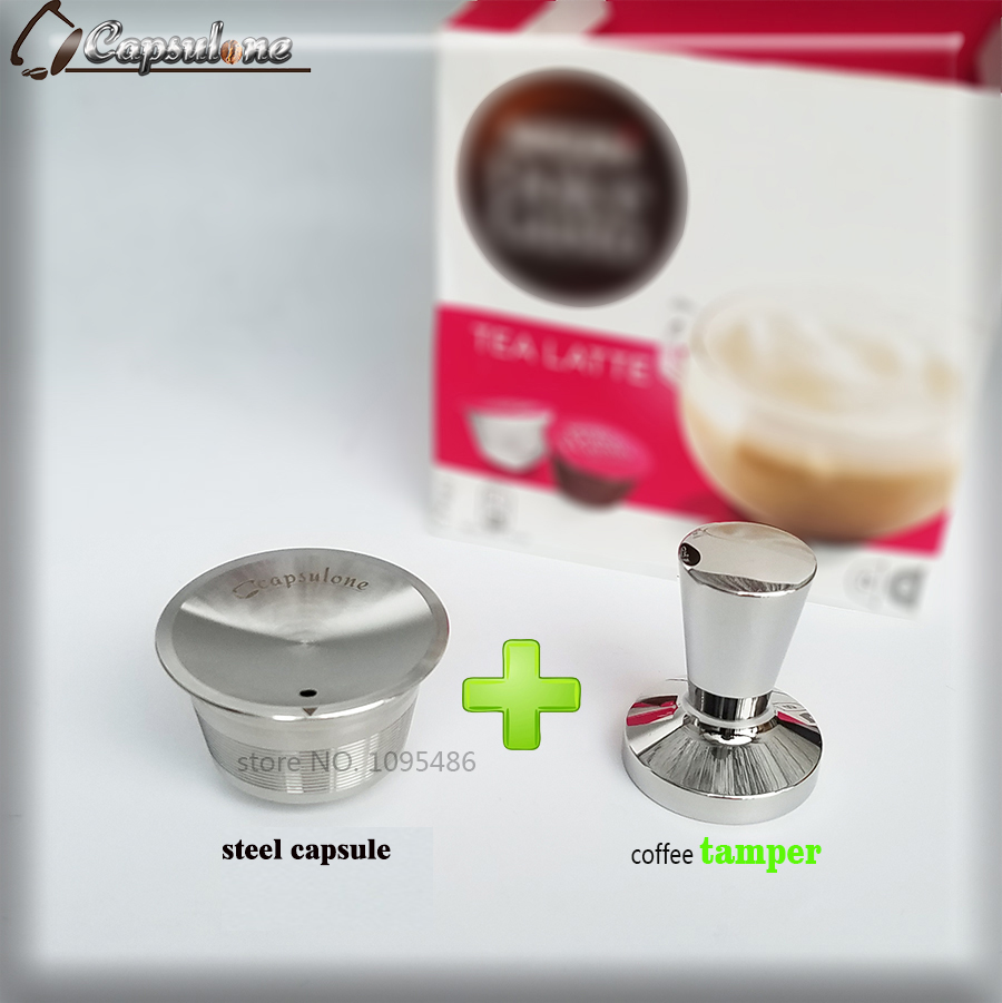 Capsulone/STAINLESS STEEL Metal dolce gusto Machine Compatible Refillable Reusable/gift Nescafe Dolce Gusto coffee cafe capsule