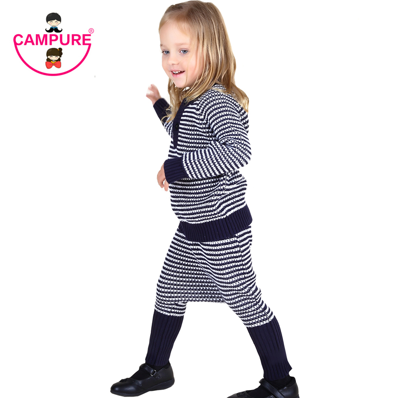 Campure 2016 Boys Girls Sweater Clothing Sets Brand Children Clothing Sweaters + Harem Pants 2pcs/lot Striped Suits Kids Clothes подарок первокласснику цифровая версия